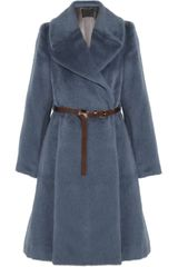 Marc Jacobs Belted Llama and Woolblend Coat - Lyst