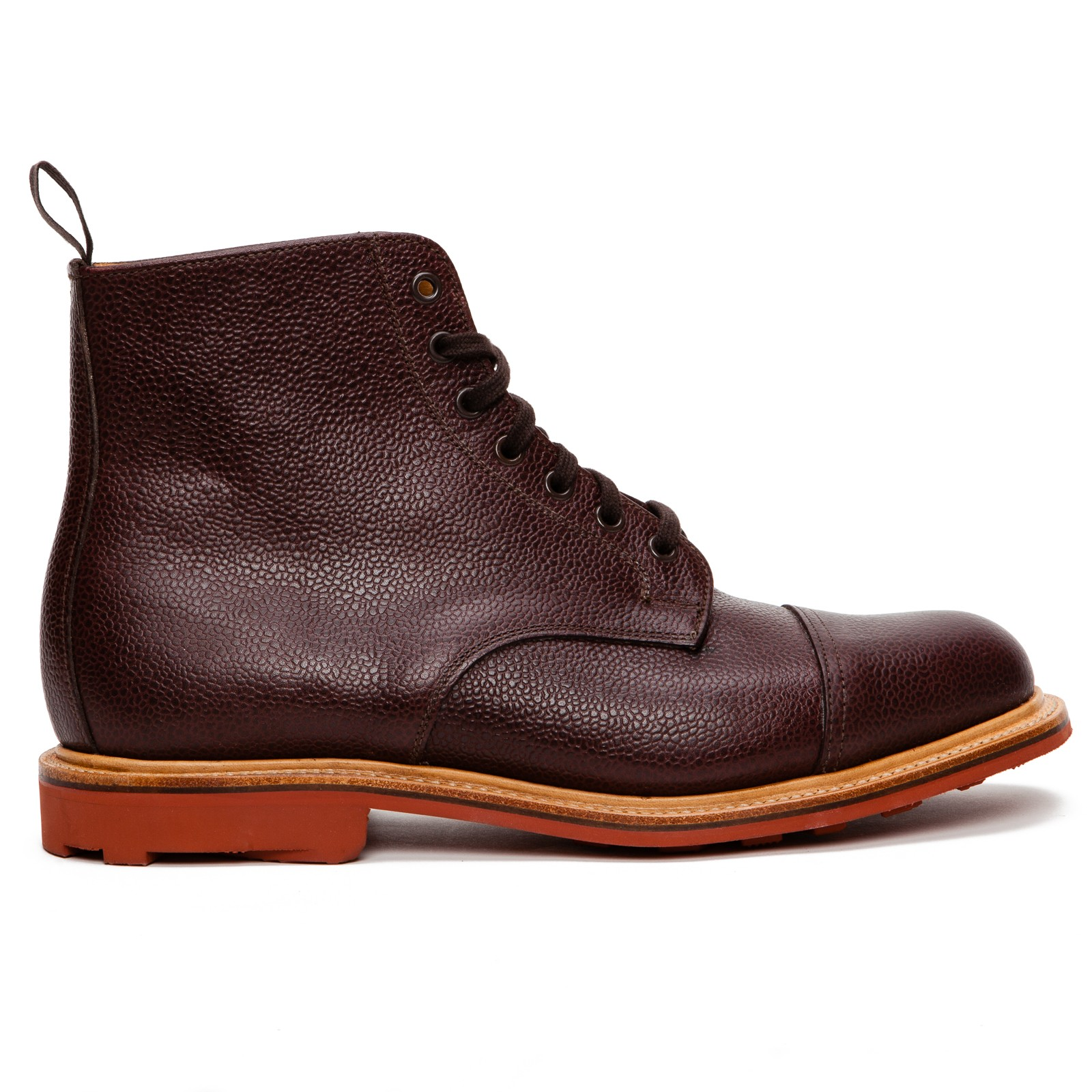 mcnairy new amsterdam toe cap boots in brown for