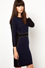 Markus Lupfer Jewel Stone Knitted Dress - Lyst
