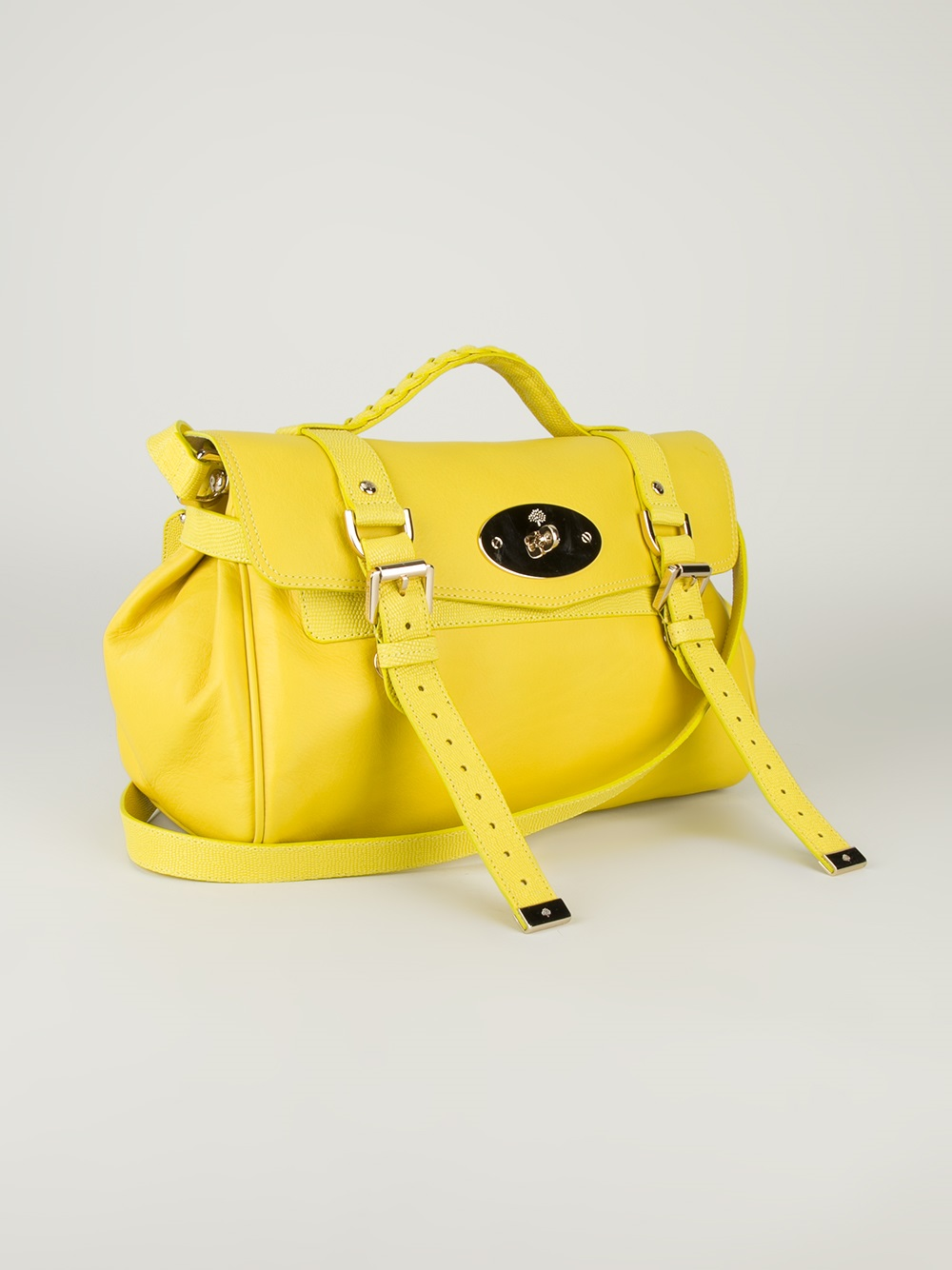 4c38f4ee743 ... canada mulberry alexa satchel in yellow lyst bfb13 a81b7 ...