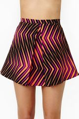 Nasty Gal Color Collide Skirt - Lyst