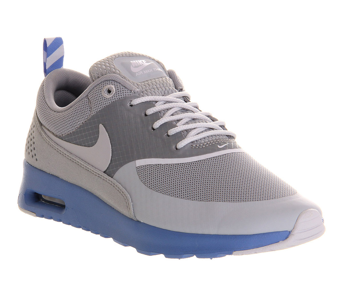 nike air max thea grey blue sparkle in gray lyst. Black Bedroom Furniture Sets. Home Design Ideas