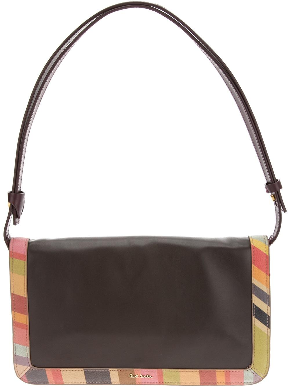 ... quality design a84c3 03538 Lyst - Paul Smith Swirl Trim Shoulder Bag in  Black ... 0088be9641c06