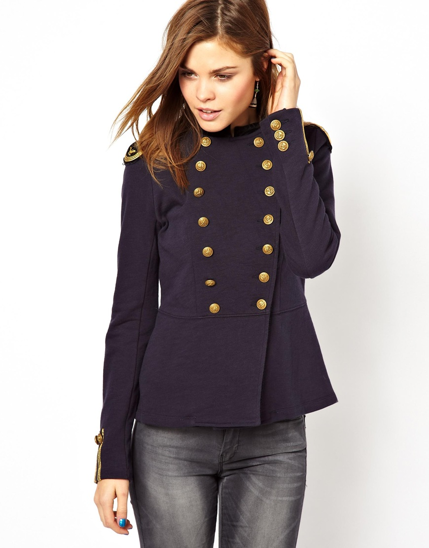 Ralph Lauren Military Jacket In Blue Navy  Lyst-8431