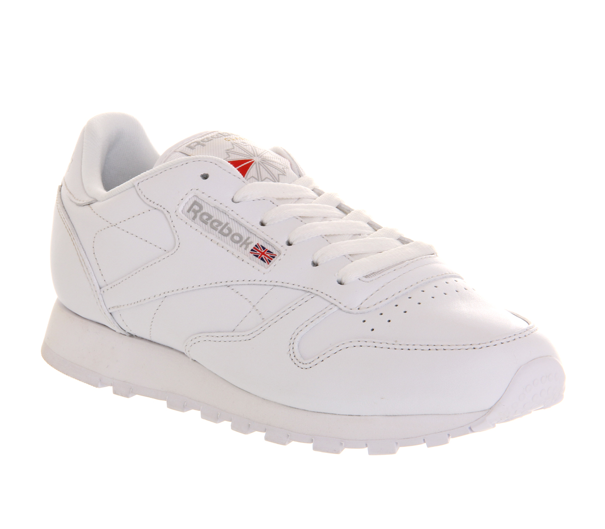 reebok classic leather trainers w in white lyst. Black Bedroom Furniture Sets. Home Design Ideas