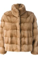 Simonetta Ravizza Ribbed Fox Fur Jacket - Lyst