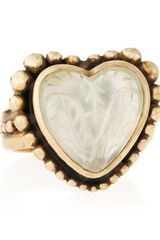 Stephen Dweck Heartshape Rock Crystal Motherofpearl Ring - Lyst