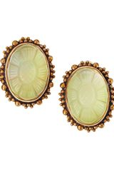 Stephen Dweck Rock Crystal Motherofpearl Clip Earrings - Lyst