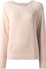 T By Alexander Wang Ribbed Jumper - Lyst