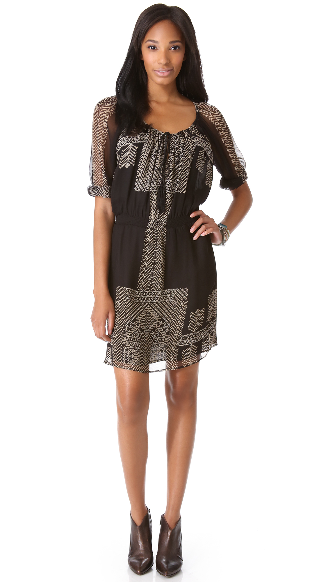 1d51f70e8b3 Lyst - Twelfth Street Cynthia Vincent Long Sleeve Dress in Gray