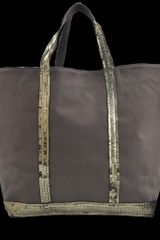 Vanessa Bruno Large Canvas Tote with Glitter - Lyst