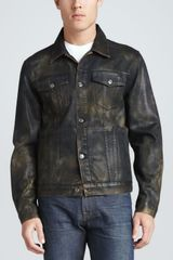 7 For All Mankind Camo Jean Jacket - Lyst