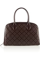 Alaïa Studded Leather Bowling Bag - Lyst