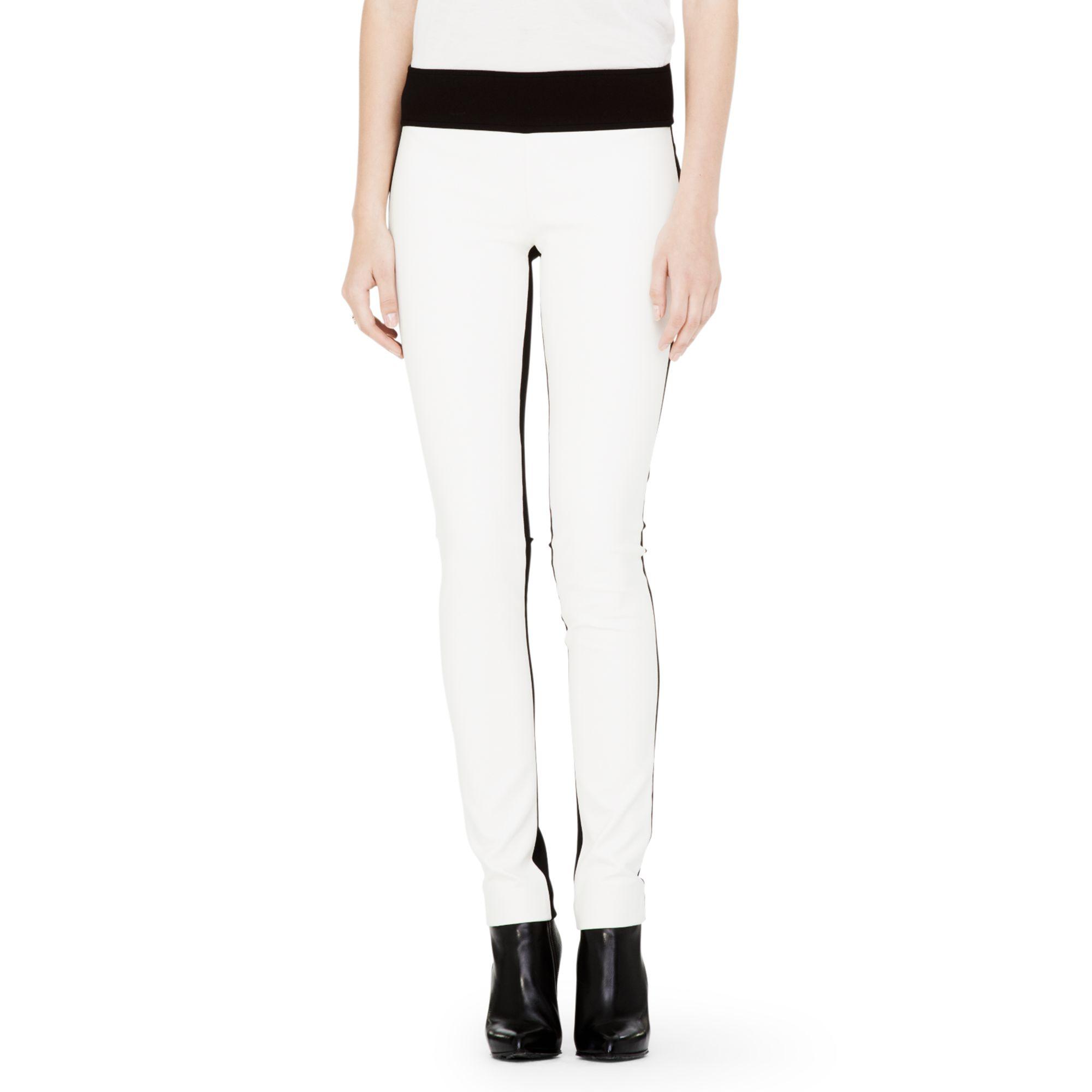 3a549aa8c8e14 Club Monaco Tasha Faux Leather Legging in White - Lyst