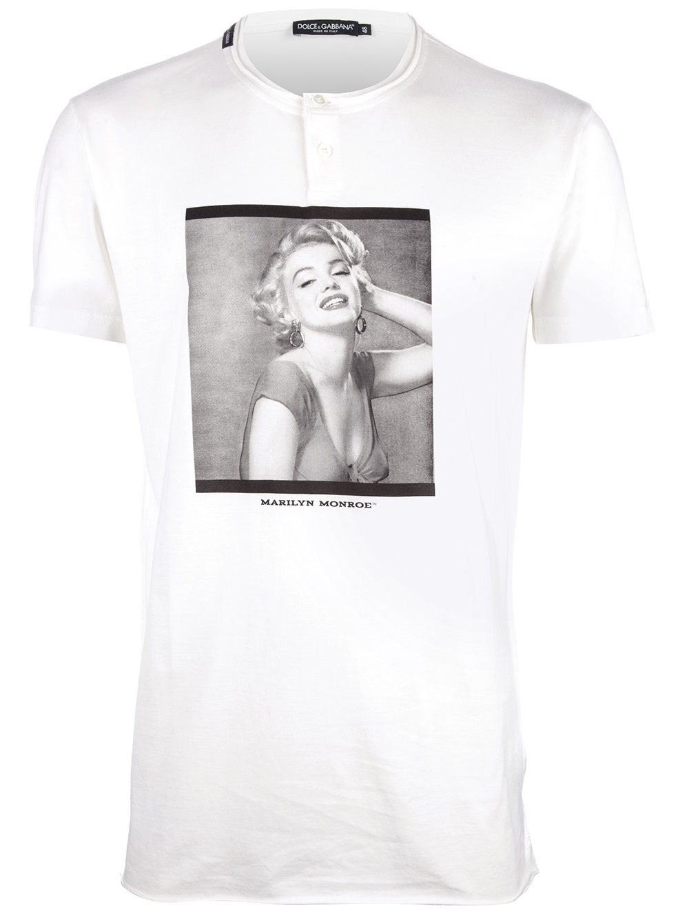 Dolce gabbana marilyn monroe printed tshirt in white for for Dolce gabbana t shirt women
