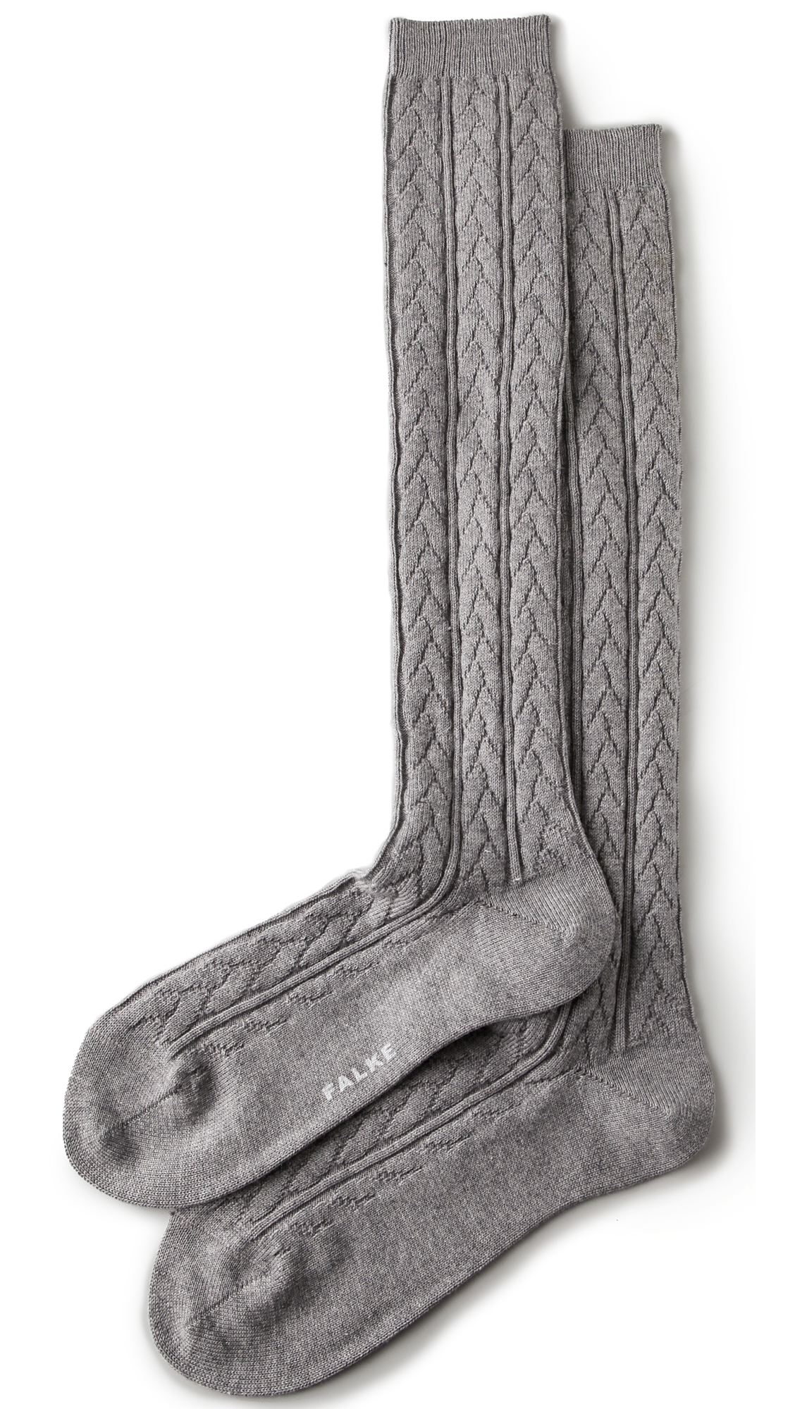 Falke Striggings Cable Knit Knee High Socks - Grey in Gray - Lyst