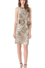 Giambattista Valli Leopard Peplum Dress - Lyst