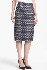 Halogen Print Pencil Skirt - Lyst