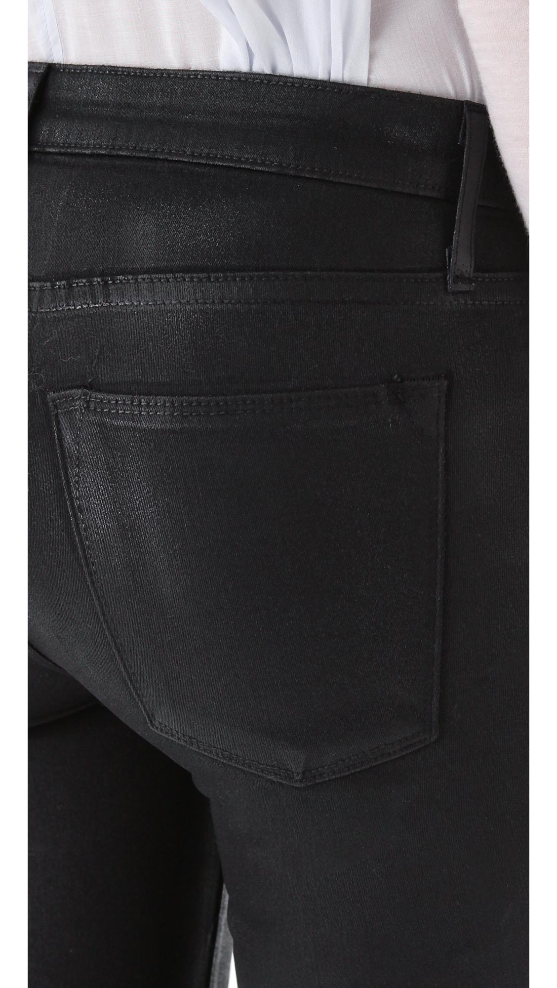 Helmut High Gloss Skinny Jeans Black in Black   Lyst