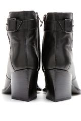 Helmut Lang Leather Ankle Boots in Black - Lyst