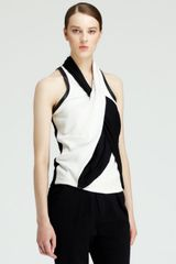 Helmut Lang Sleeveless Twisted Drape Top - Lyst