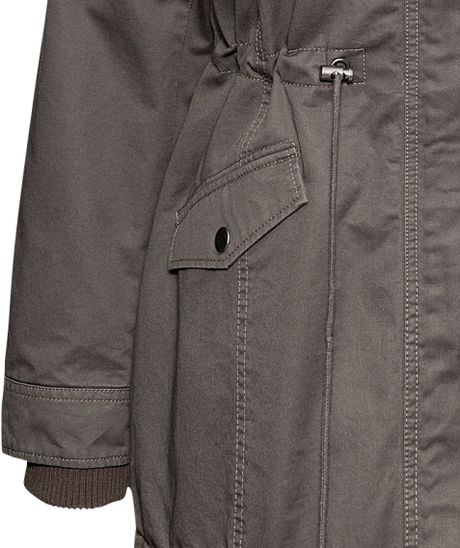 H&m Lined Parka in Gray