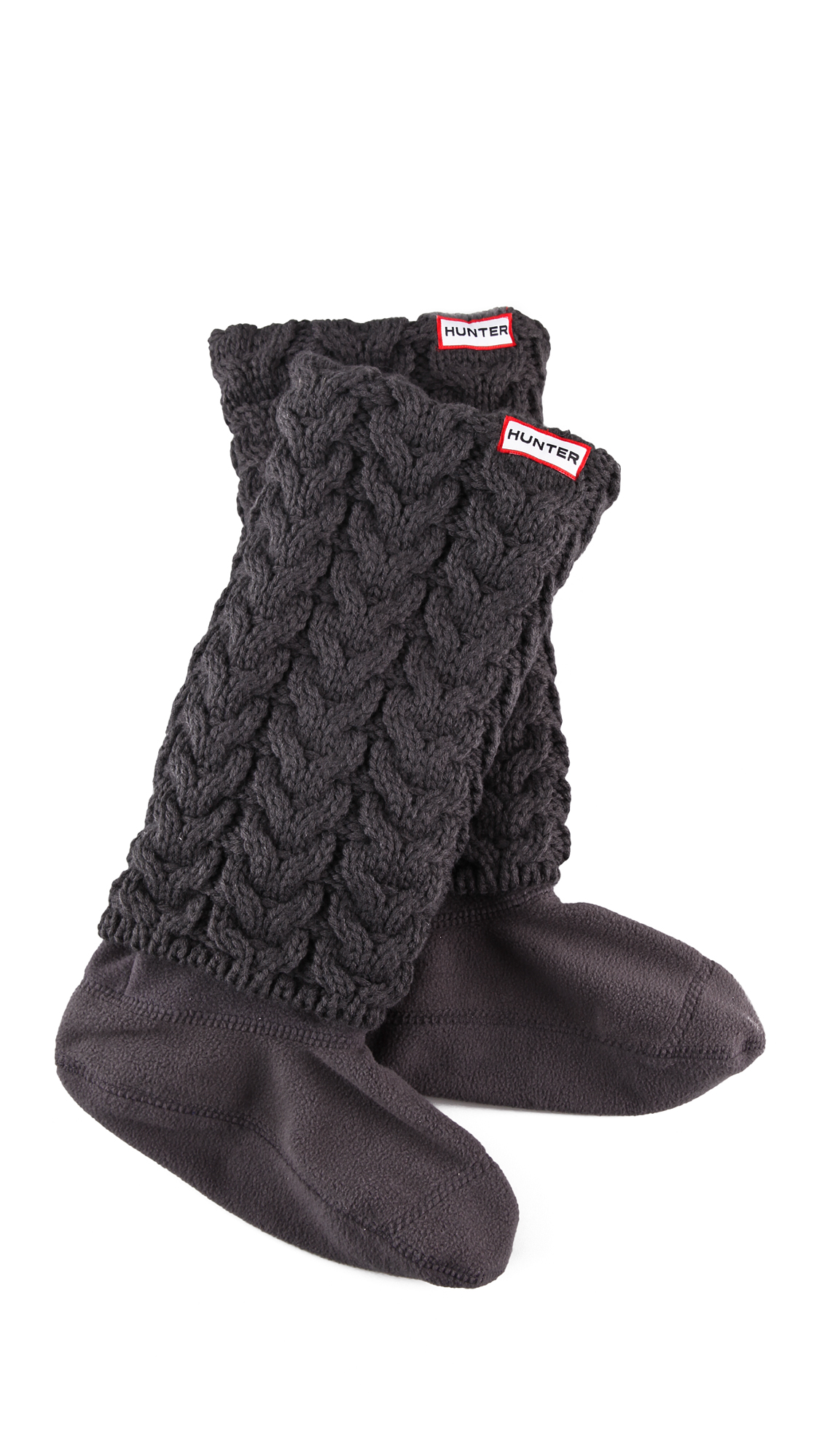 100% top quality special sales closer at Lyst - HUNTER Long Cuff Welly Socks in Gray