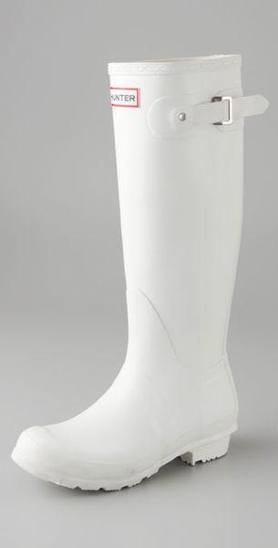 Hunter Original Hunter Wellington Rain Boots In White Lyst