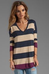 Joie Bold Stripe Chyanne B Sweater in Navy - Lyst