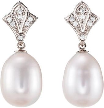 Julia Failey Silver Art Deco Pearl Earrings - Lyst
