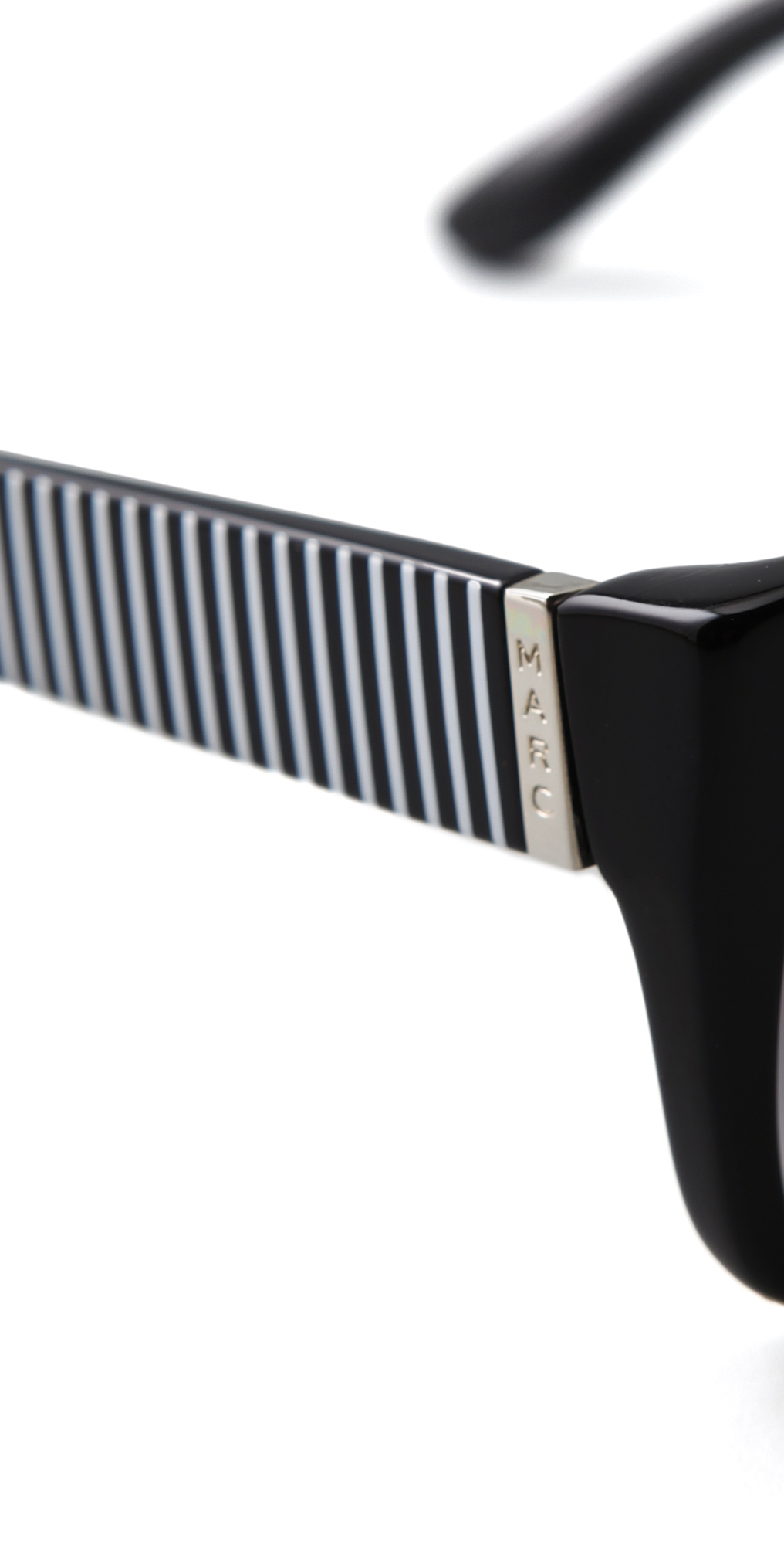 f9477b8ee6a Lyst - Marc By Marc Jacobs Side Stripe Sunglasses Blackblackwhite in ...