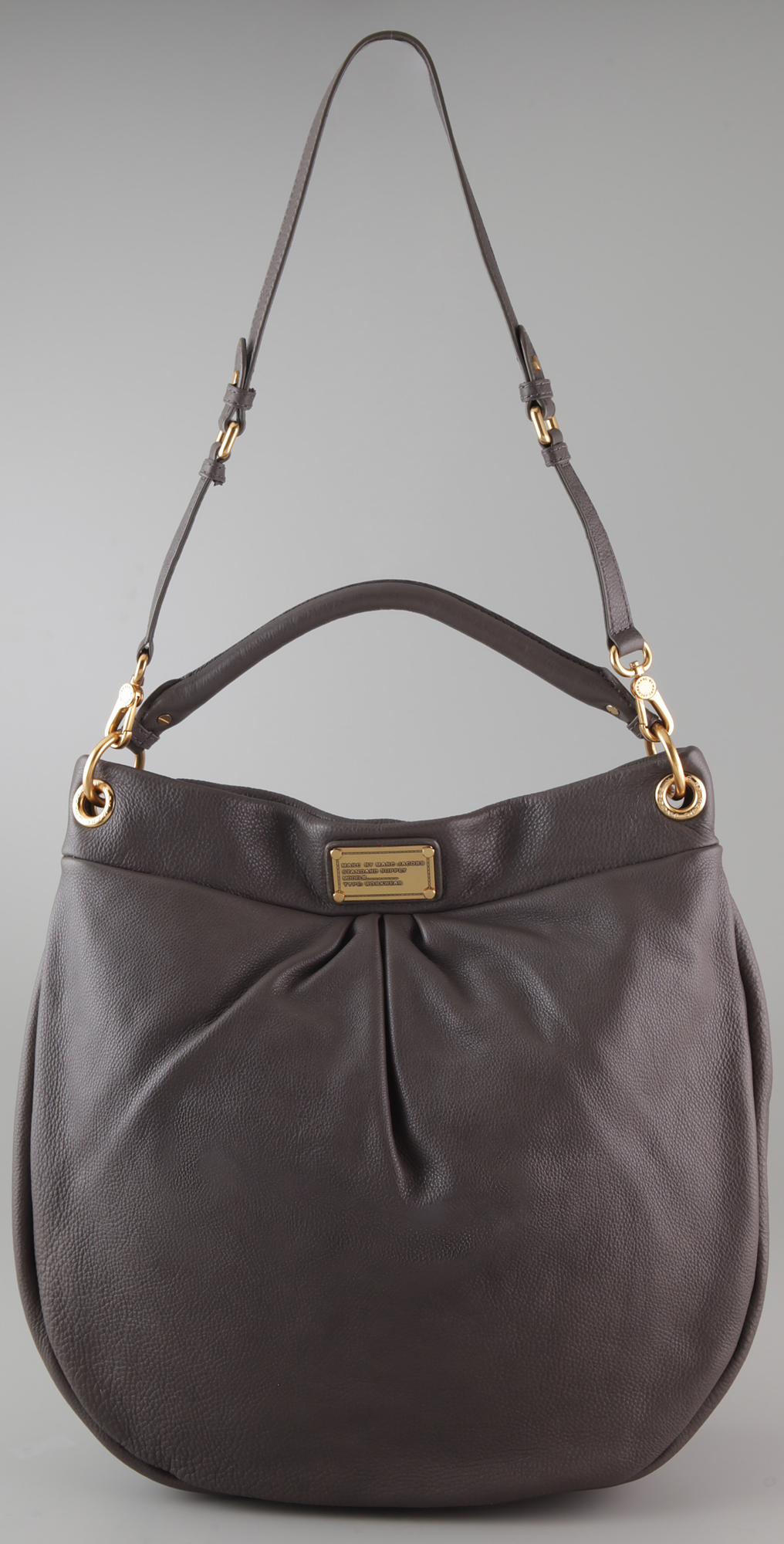 Lyst - Marc By Marc Jacobs Classic Q Huge Hillier Hobo Black in Gray e76c34af045ce