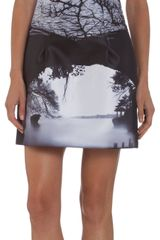 Mary Katrantzou Rainbow Branch Mini Dress - Lyst