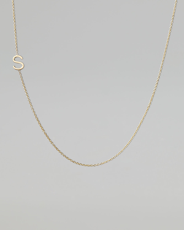 Maya Brenner Designs Personalized Mini Three-Letter & Star Pendant Necklace DRH3q1