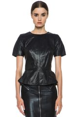 McQ by Alexander McQueen Leather Top - Lyst