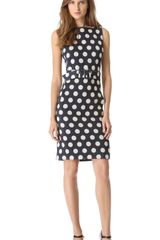 Moschino Sleeveless Polka Dot Dress - Lyst