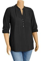 Old Navy Plus Crepe Military Style Blouses - Lyst