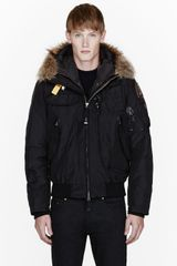 Parajumpers Black Raccoon Fur Hood Layered Gobi Jacket - Lyst