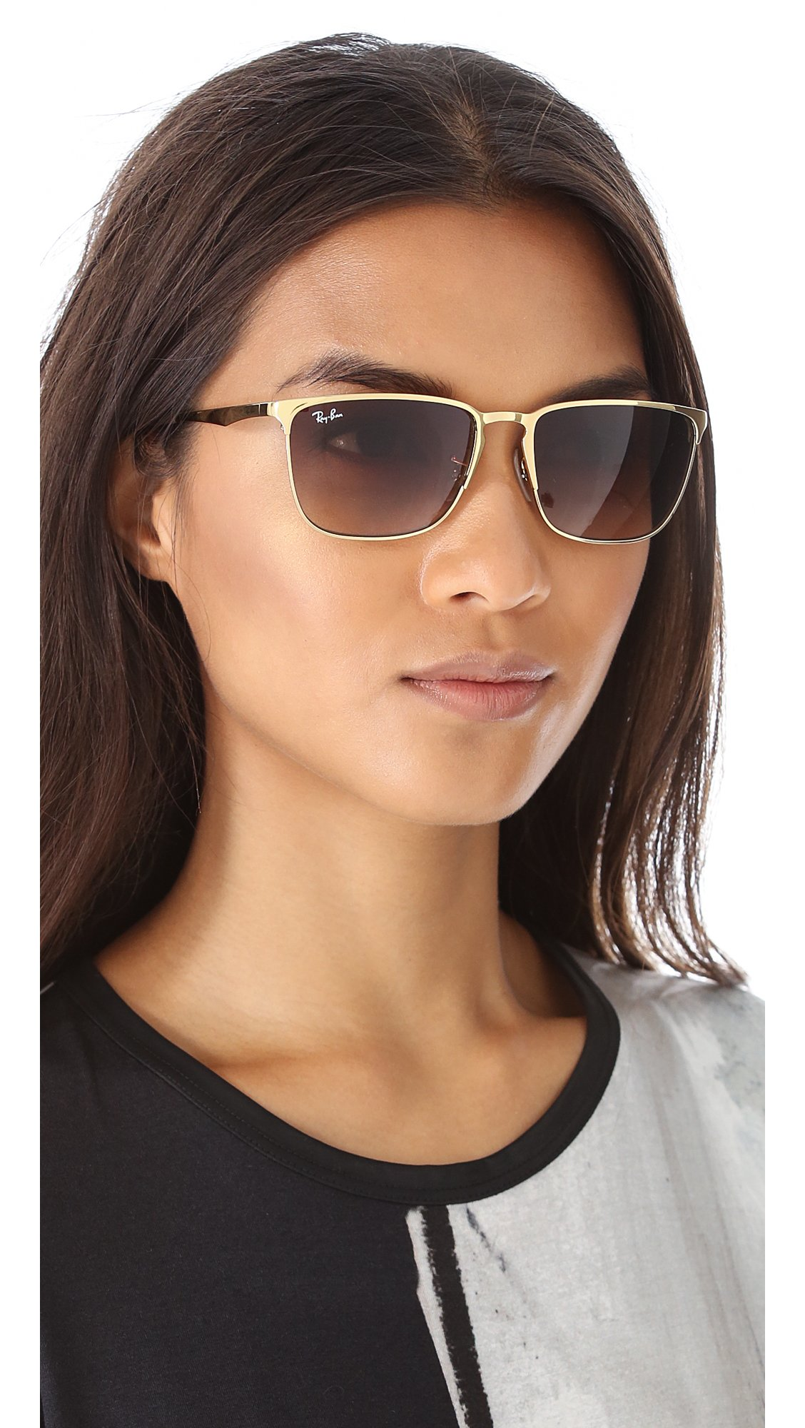 Ray Ban Highstreet Square Sunglasses In Brown Lyst