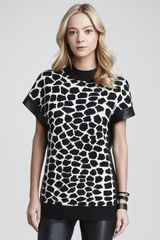 Robert Rodriguez Crocpatterned Intarsia Sweater - Lyst
