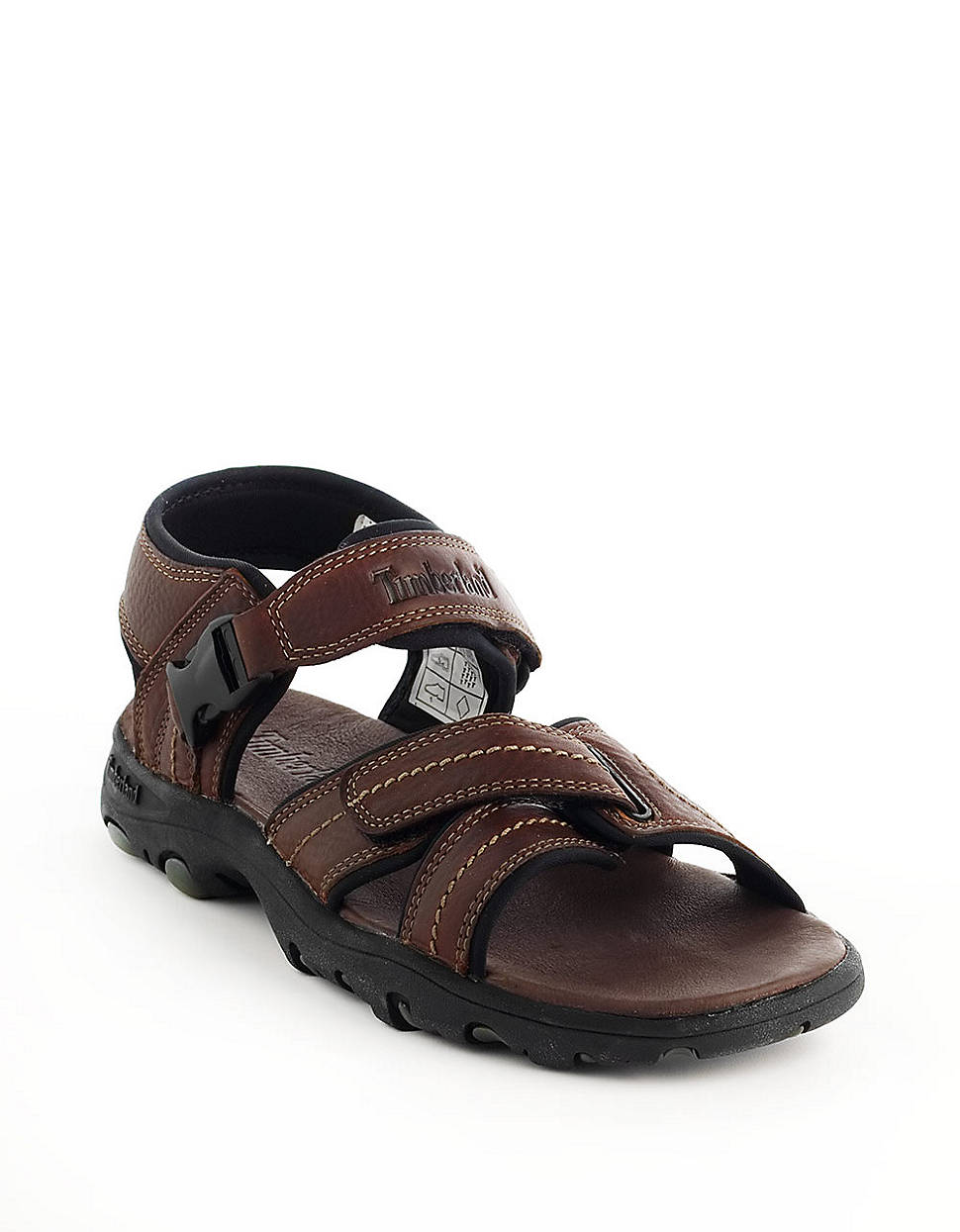 Timberland Sherrington Opentoe Leather Sandals In Brown