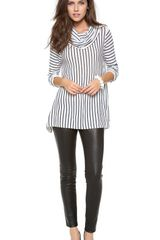 Alice + Olivia Drape Stripe Sweater - Lyst
