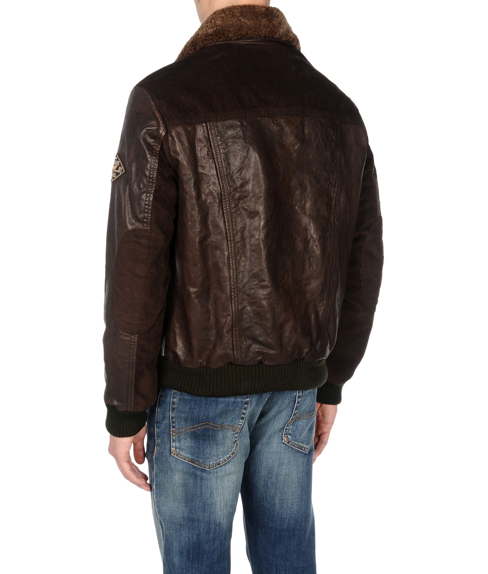 Armani brown leather jacket