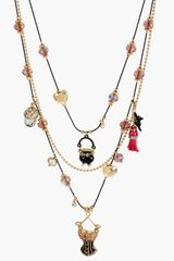 Betsey Johnson Enchanted Forest Multistrand Necklace - Lyst