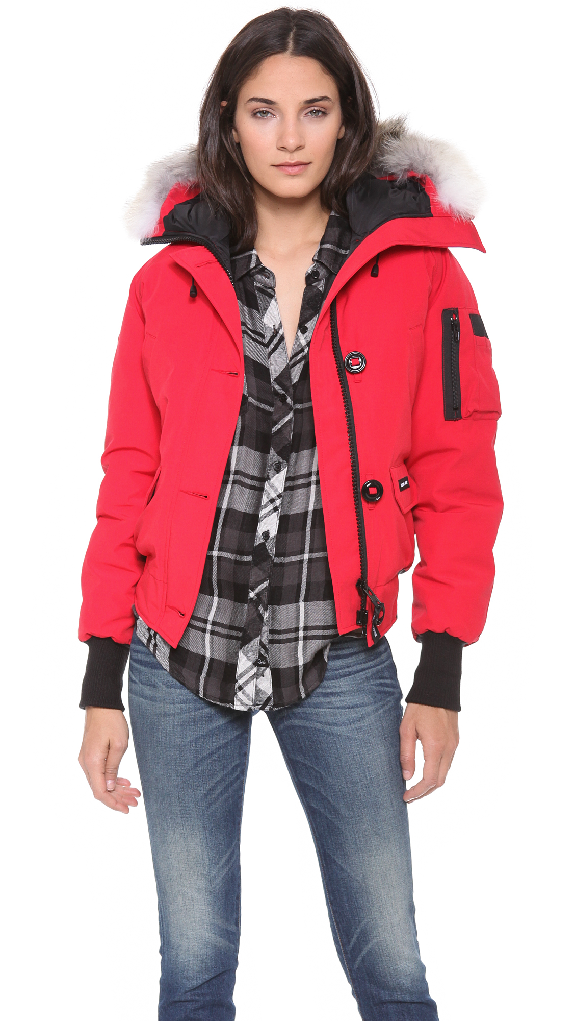 canada goose fur jacket womens