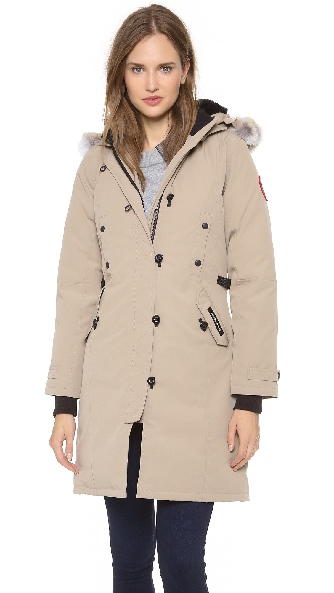 Celebrity Jr. Women Puffer Jacket Trench Coat Winter Parka ...