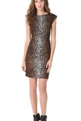 Derek Lam Giraffe Cap Sleeve Dress - Lyst