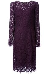 Dolce & Gabbana Corded Lace Dress - Lyst