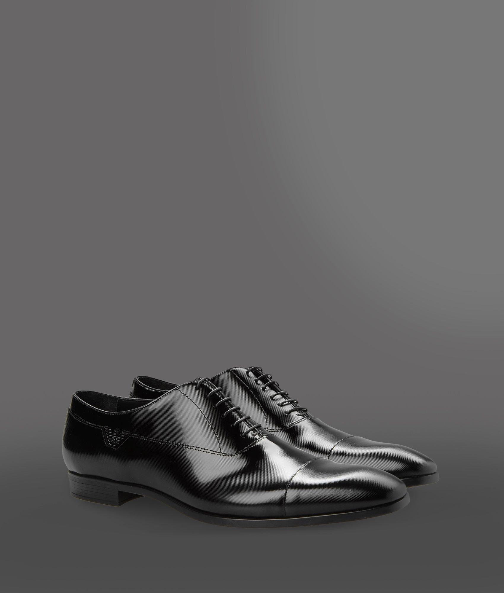 Lyst - Emporio armani Laceup Shoes in Black for Men