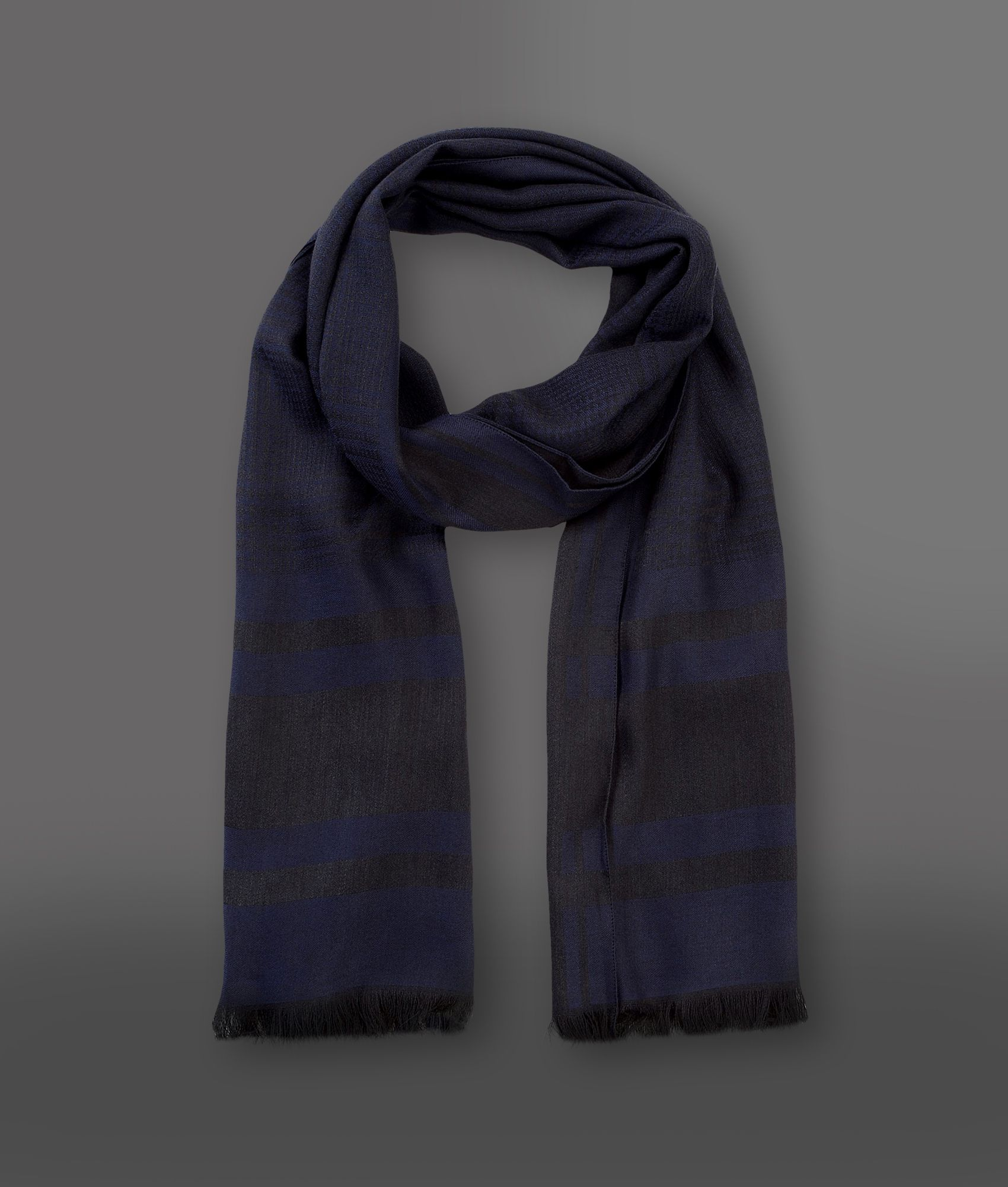 emporio armani scarf in blue for lyst